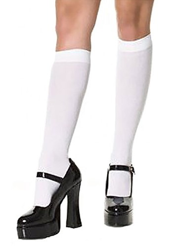 White Knee High Stockings By: Leg Avenue for the 2015 Costume season.