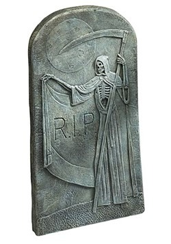 "Grim Reaper Tombstone 26.5"" Decoration"