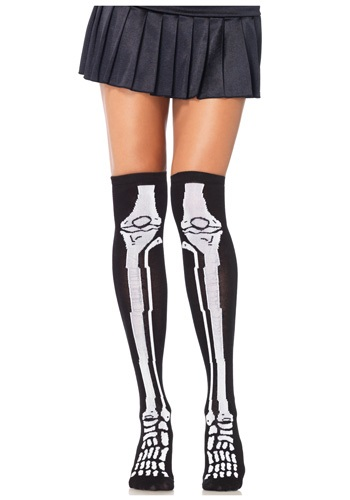 Skeleton Knee High Socks