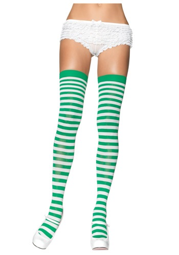 Click Here to buy Green and White Nylon Stockings from HalloweenCostumes, CDN Funds