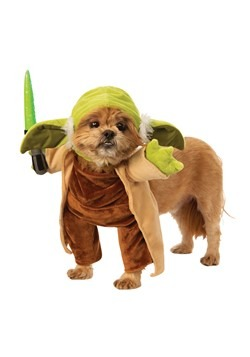 Star Wars Walking Yoda with Lightsaber Dog Costume