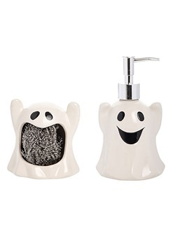 Ghost Sponge Holder/Soap Dispenser Set