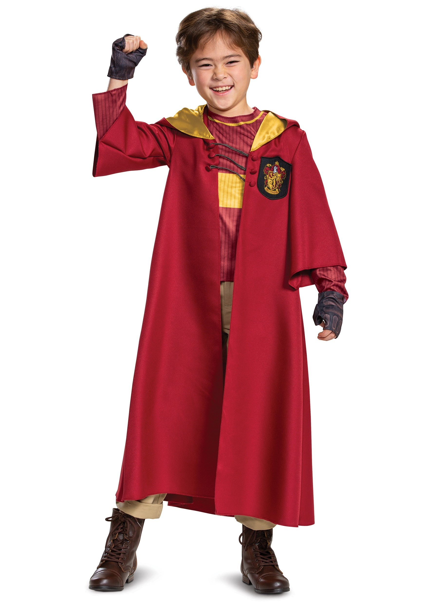Harry Potter Deluxe Kid S Gryffindor Quidditch Robe Costume Fandom Shop