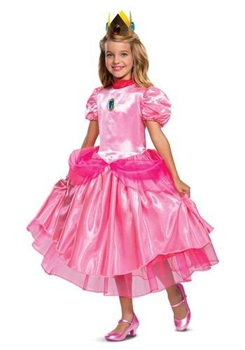 Super Mario Deluxe Princess Peach Costume for Girls