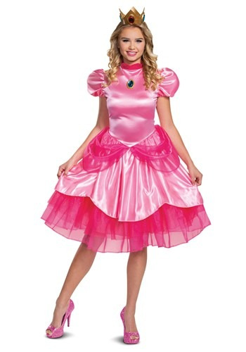 Women's Super Mario Deluxe Princess Peach Costume