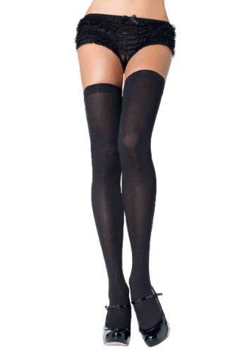 Black Thigh High Stockings