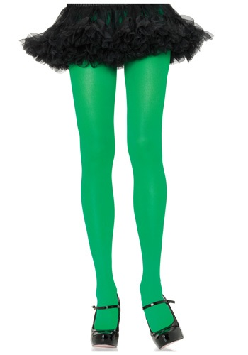 Click Here to buy Kelly Green Nylon Tights from HalloweenCostumes, CDN Funds