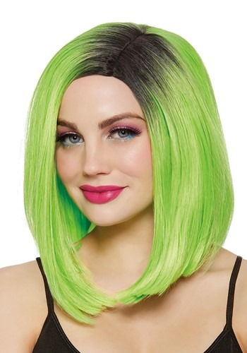 Womens Lime Green Bob Wig