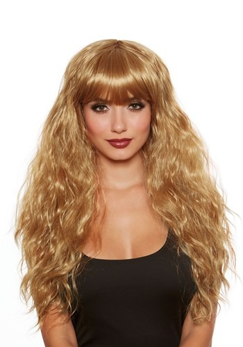 Womens Long Honey Brown Wave Wig