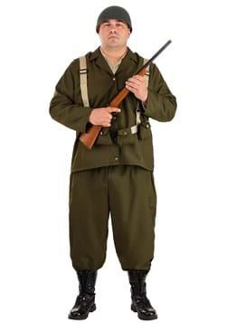 Plus Size Deluxe WW2 Soldier Costume