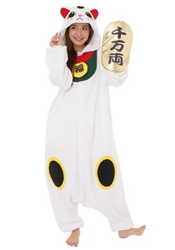 Lucky Cat Adult Kigurumi Costume