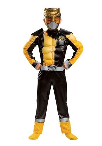 Power Rangers Classic Beast Morphers Child Gold Ranger Costu