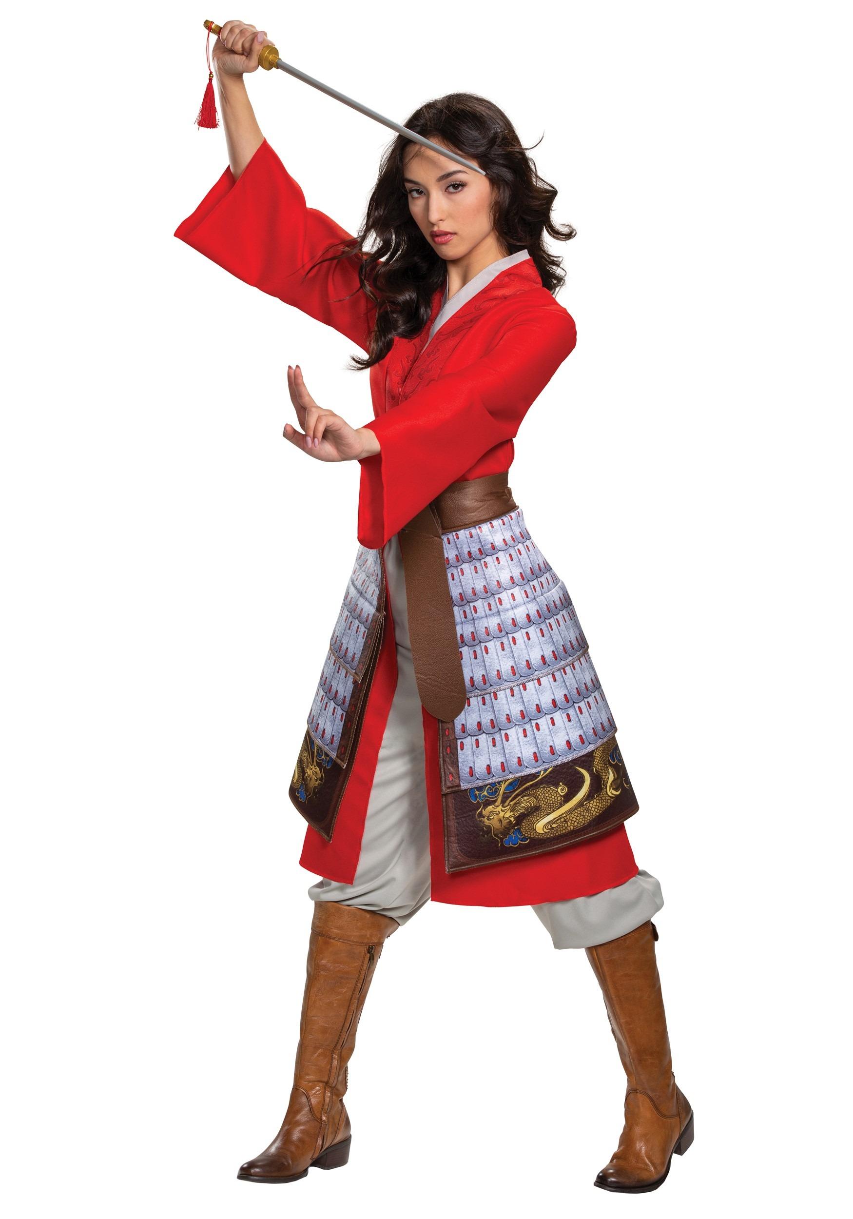 Women S Mulan Deluxe Hero Red Costume