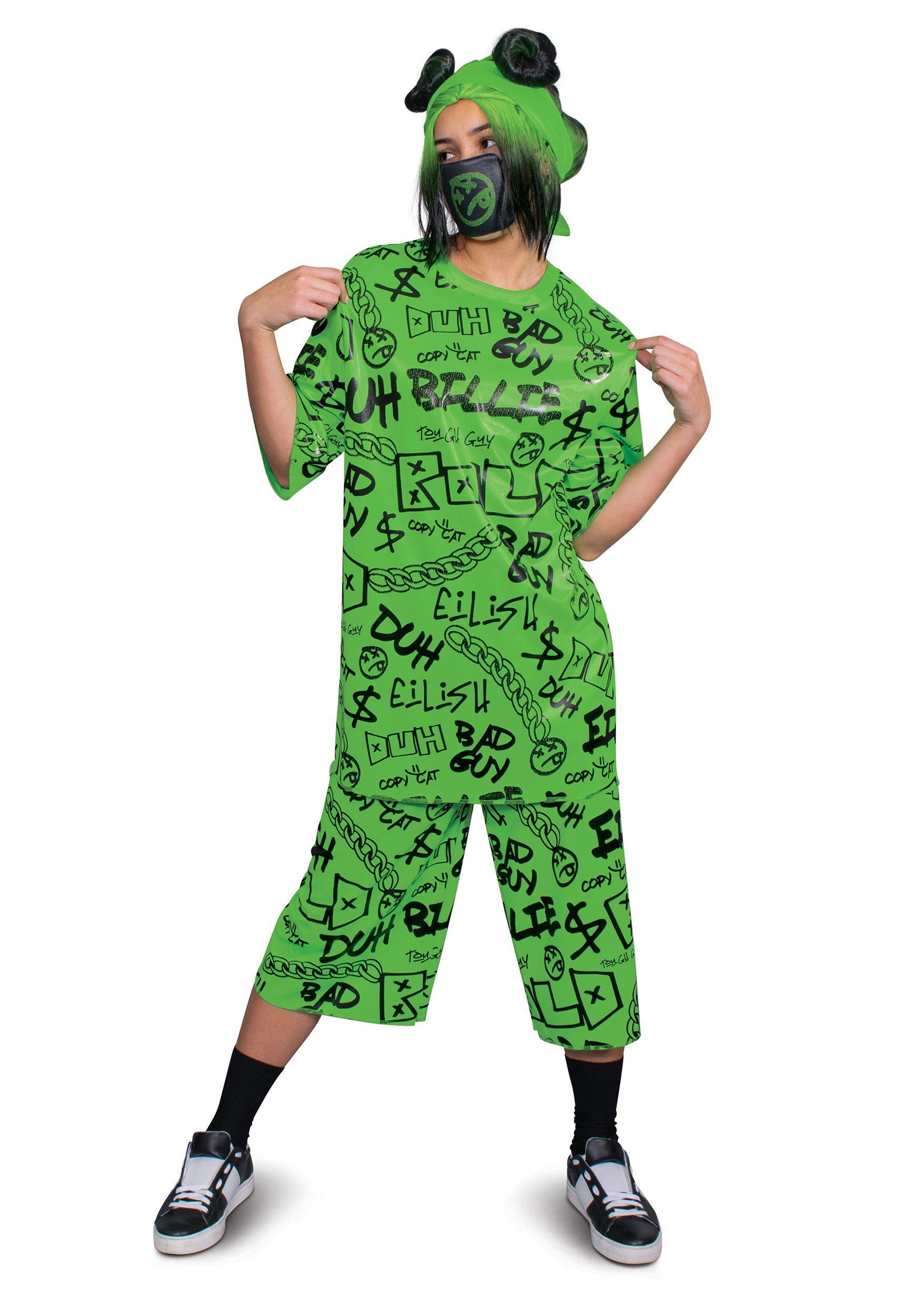 Adult Green Billie Eilish Costume