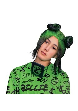 Billie Eilish Adult Green Doulbe Bun Wig