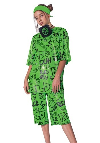 Kids Classic Green Billie Eilish Costume