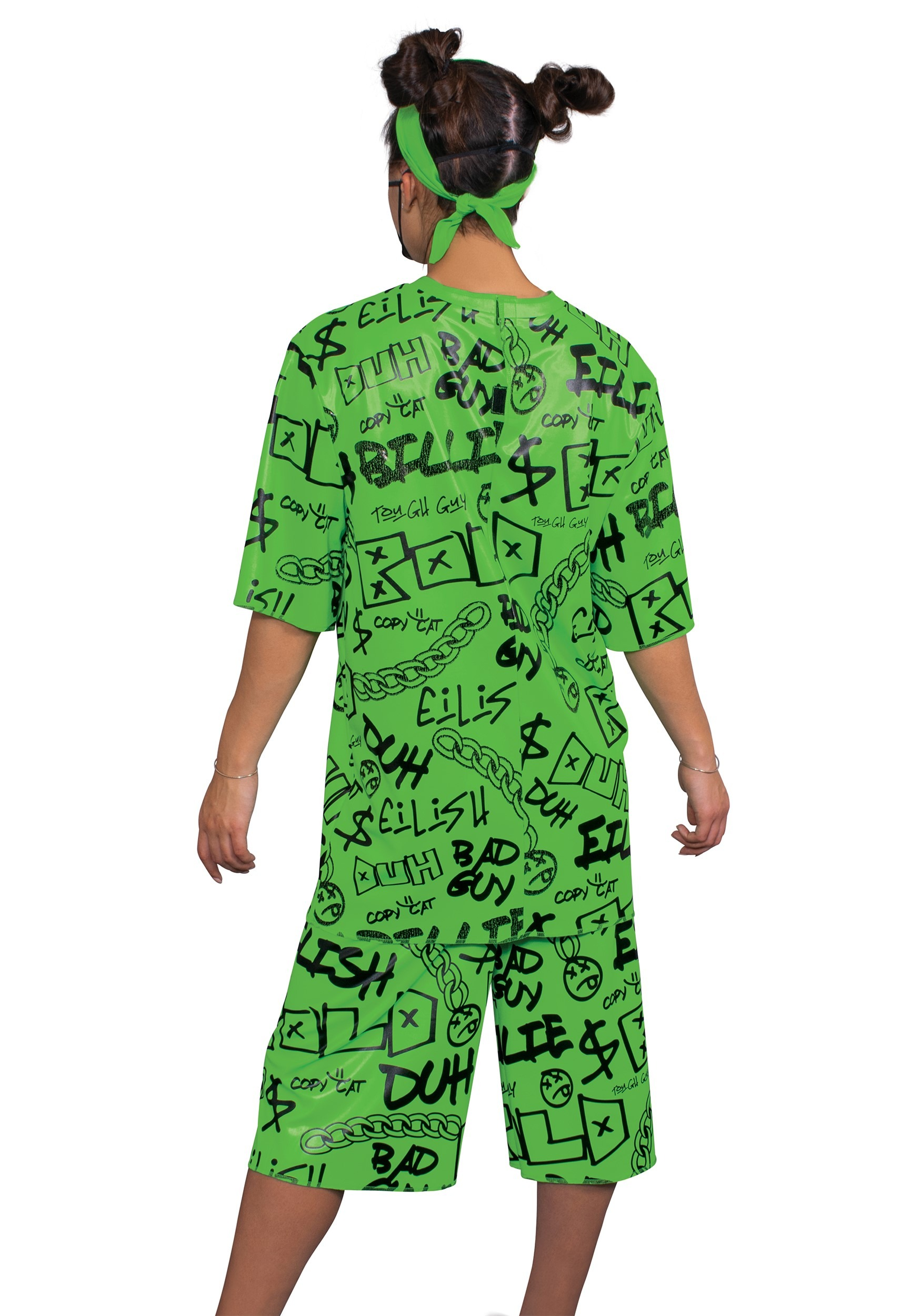 Classic Green Kids Billie Eilish Costume