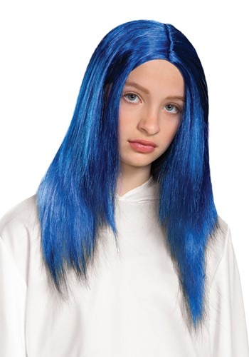 Kids Billie Eilish Blue Wig