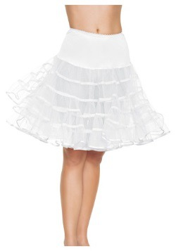 White Knee Length Petticoat