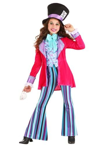 Whimsical Mad Hatter Costume for Girl's