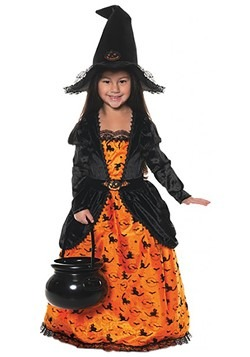 Girl's Pumpkin Witch Costume