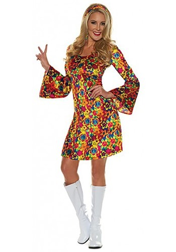 Womens Hippie Flower Child Costume