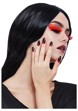 Gothic Red & Black Eyelash & Nail Set
