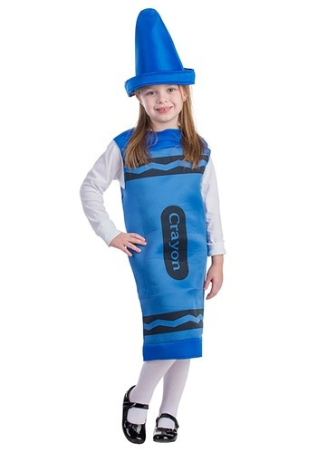 Toddlers Blue Crayon Costume