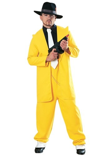 Adult Yellow 1920s Gangster Zoot Suit Costume