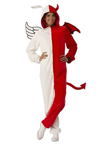 Adult Angel & Devil Jumpsuit Costume