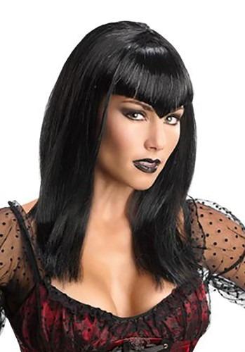 Adult Black Glitter Vampire Wig