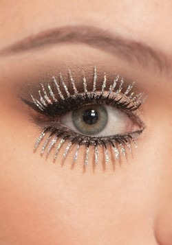 Silver Glitter Eyelashes Top and Bottom Set