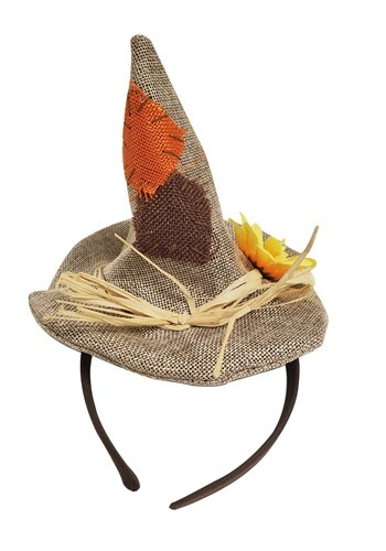 Burlap Scarecrow Mini Hat