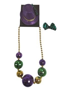 Mardi Gras Necklace and Mini Fedora