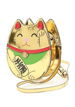Gold Lucky Cat Handbag