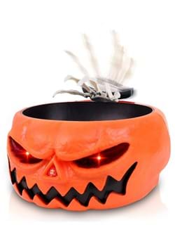 Animated Scary Pumpkin Candy Bowl