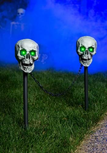 "25"" Skull Pathway Lights (Set Of 2) Decoration"