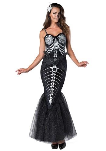 Women's Skeleton Mermaid Costume