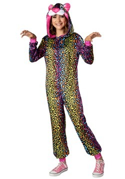 Tween Neon Leopard Costume