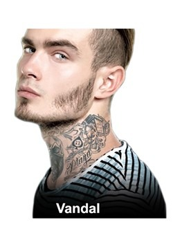 Vandal Neck Tattoos