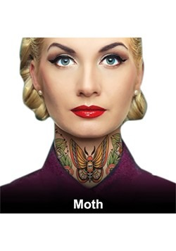 Moth Neck Tattoos