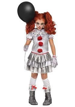 Girls Carnevil Clown Costume