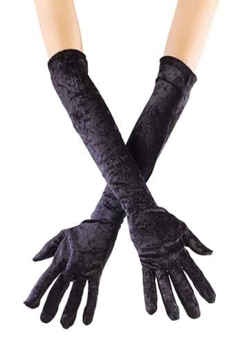 Long Black Velvet Gloves