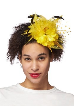 Yellow Trim Fascinator