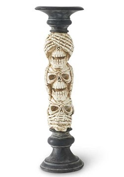 13in See No Evil Hear No Evil Speak No Evil Candlestick