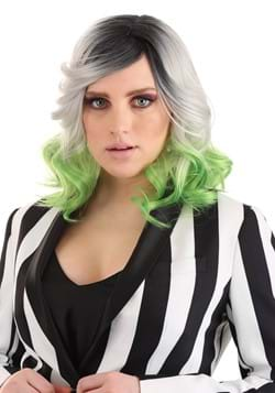 Adult Grey and Green Ombre Wig