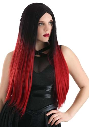Black and Red Ombre Wig