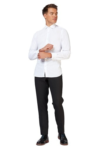 OppoSuits White Knight Shirt for Men