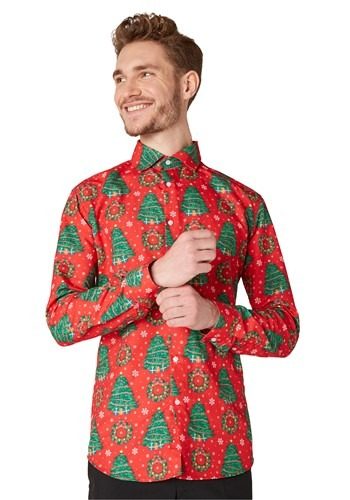 Men's Suitmeister Christmas Trees Red Shirt update