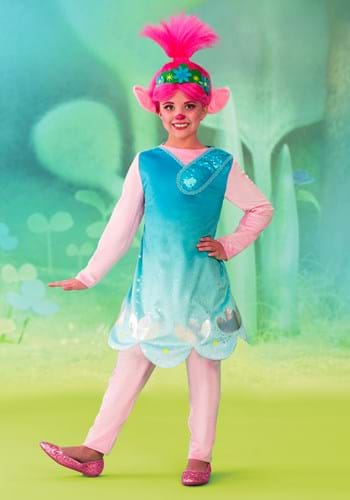 Trolls World Tour Deluxe Poppy Costume w/leggings